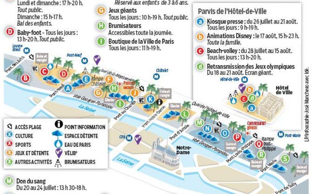 Plan Paris Plage par Le Parisien