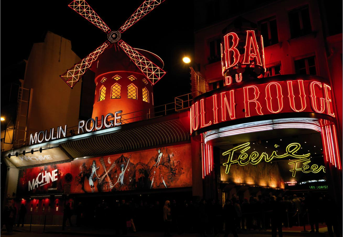Moulin Rouge for Christmas in PARIS closed to BVJ OPERA-MONTMARTRE HOSTEL in PARIS