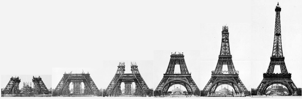 Construction-Stages-Eiffel-Tower-PARIS-FRANCE / BVJ HOSTEL in PARIS