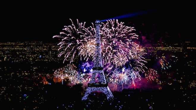 14 july fire works in PARIS
