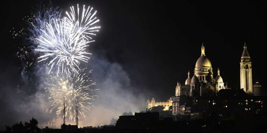FIRE WORKS PARIS from SACRE COEUR